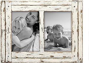 Foreside Home & Garden FFRD06214 5X7 Two photo Heartland Frame White