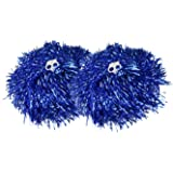 1 paio cheerleading pom pom Hen Party Fancy Dress -- 6 lucido metallico colori (0.025kg/PC)