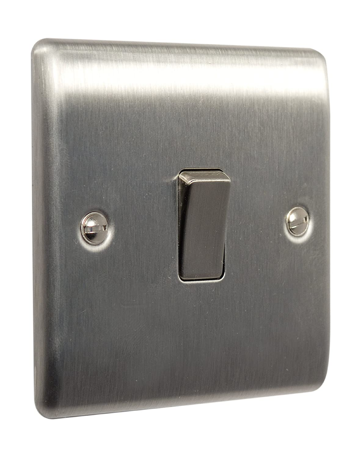 Bg Electrical Nbs13 Nexus Metal Brushed Steel 1 Gang 10ax Switches Also 3 Way Light Switch Wiring Further Intermediate Plate Kitchen Home