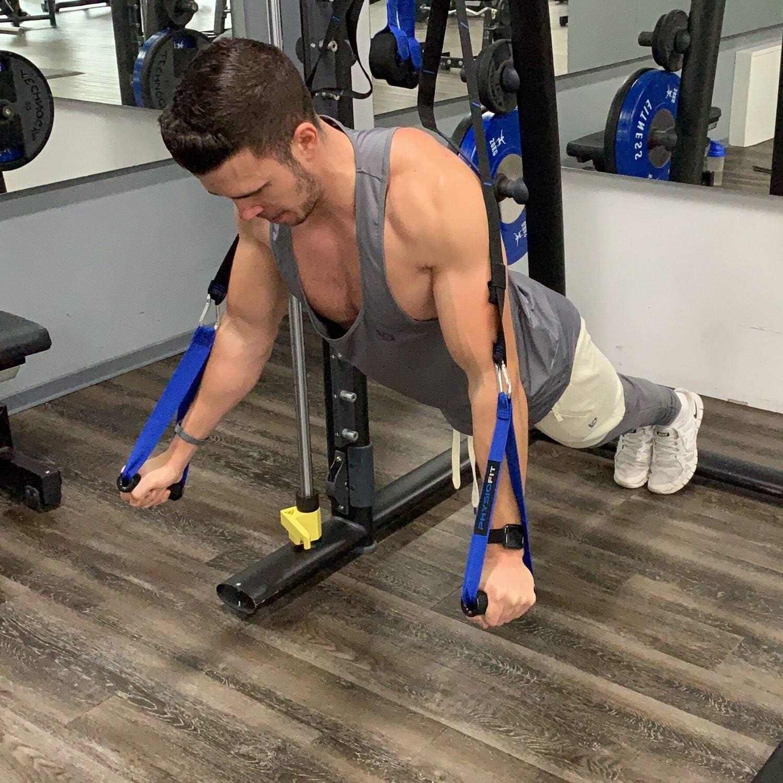 PhysioFit - Juego de Entrenamiento de suspensión con Anclaje en la Puerta para Entrenamiento de Cuerpo Entero