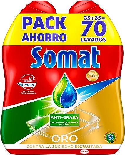 Somat Oro Gel Lavavajillas Antigrasa - 70 Lavados: Amazon.es ...