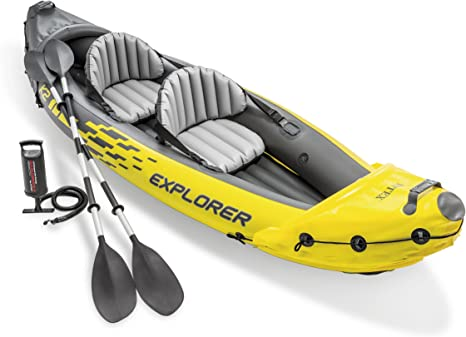 Amazon.com: Intex Explorer K2 Kayak, 2-Person Inflatable Kayak Set with Aluminum Oars and High Output Air Pump: Sports & Outdoors