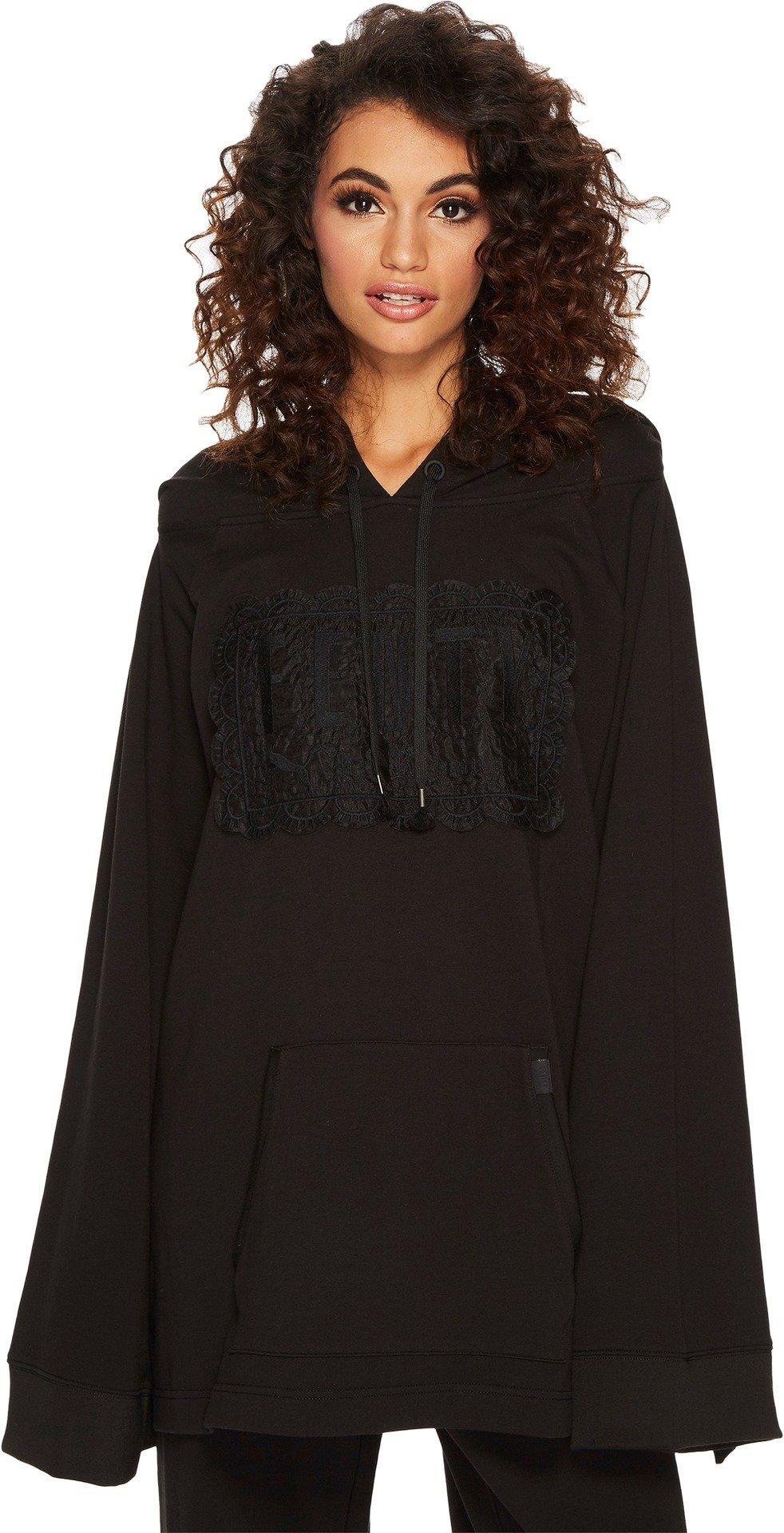 PUMA Women's Fenty Fleece Off The Shoulder Hoodie Cotton Black Small
