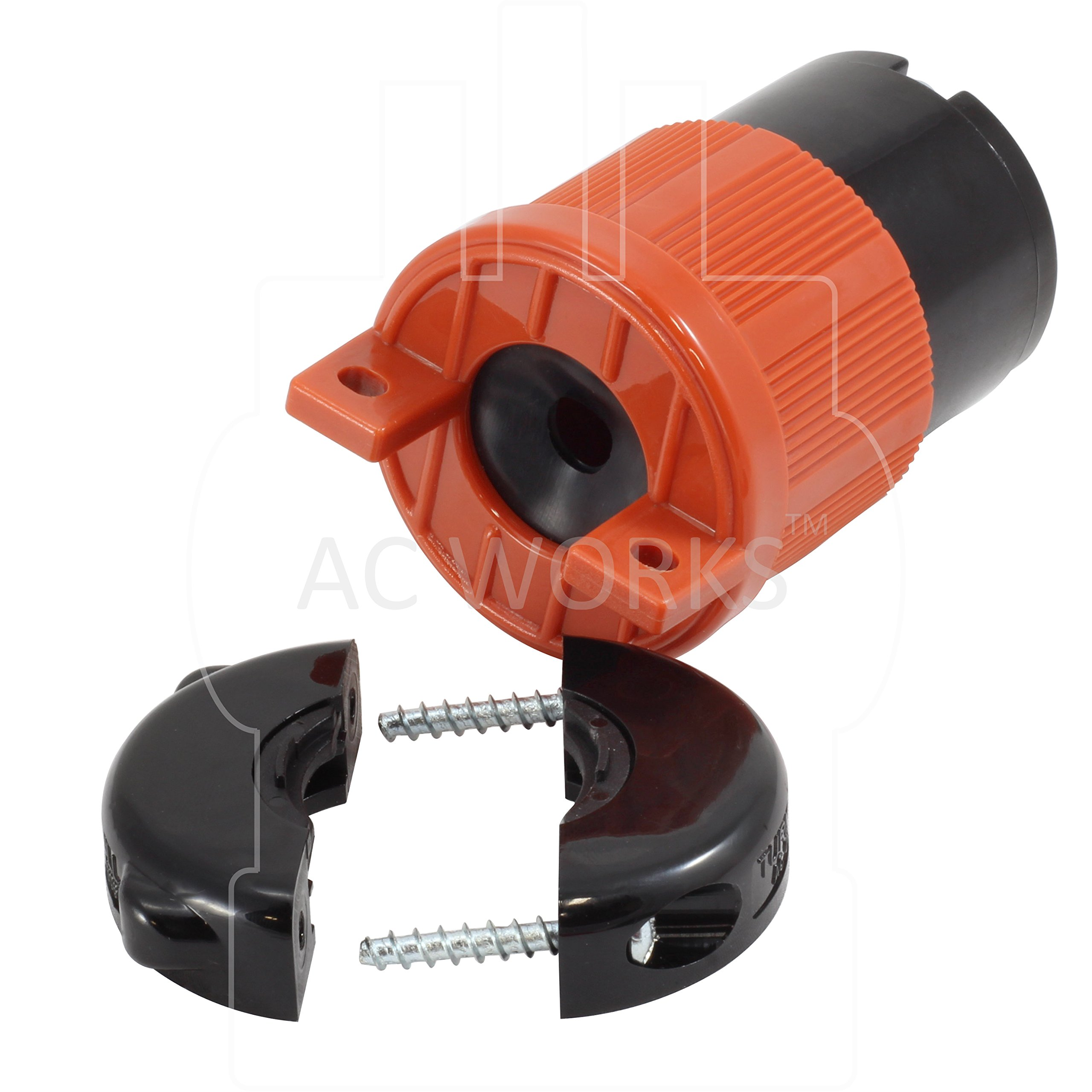 AC WORKS [ASL620R] NEMA L6-20R 20Amp 250Volt 3 Prong Locking Female Connector With UL, C-UL Approval by AC WORKS (Image #4)