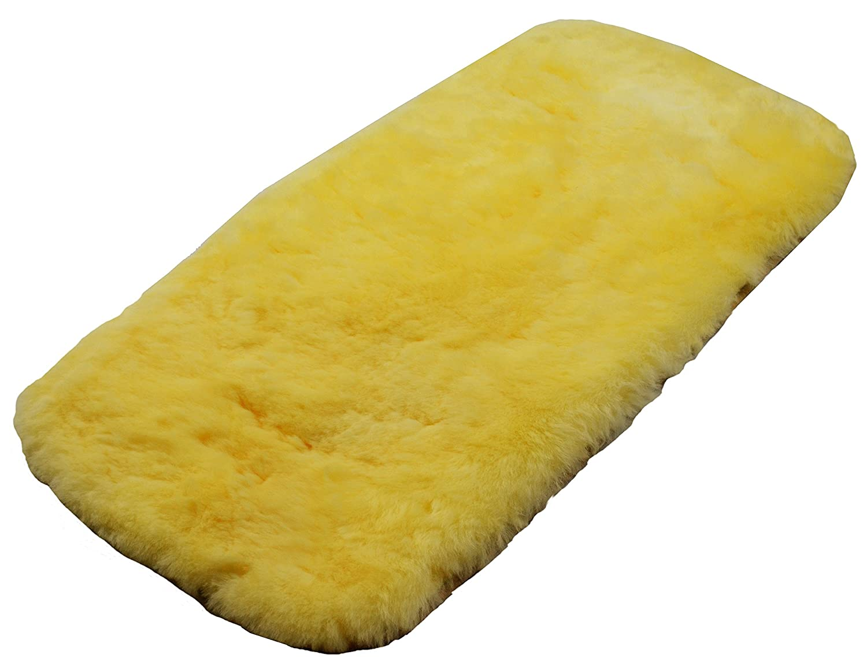 73 x 35 cm Naturasan Tapis en laine de mouton liner 01 Peau dagneau si/ège coussin // assise la peau dagneau id/éale coussin pour B/éb/é une tapis universelle pour poussette // buggy beige