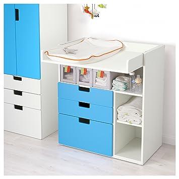Ikea Stuva Table A Langer Avec 3 Tiroirs Blanc Bleu 2 Pack