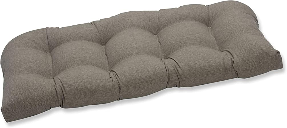 Pillow Perfect 449883 Outdoor Indoor Monti Chino Tufted Loveseat Cushion 44 X 19 Taupe Home Kitchen Amazon Com