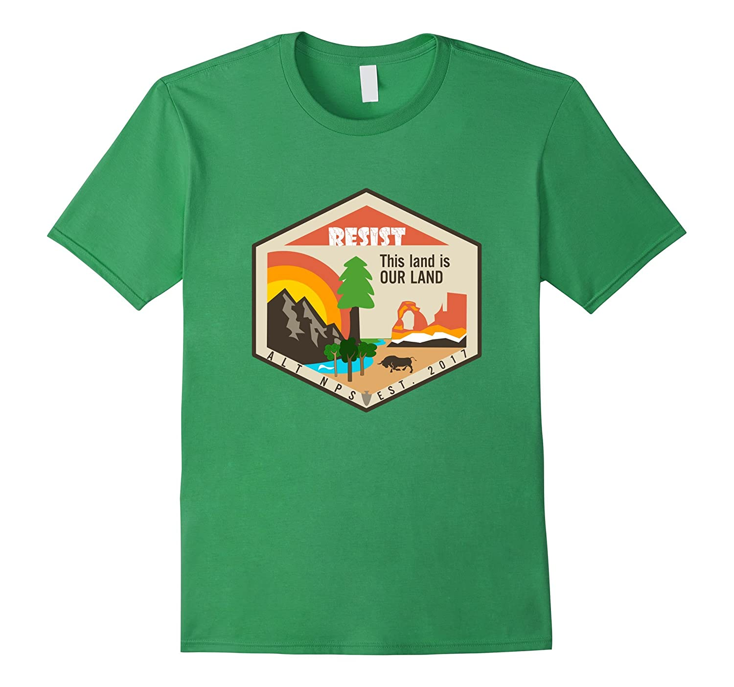 Alt This Land Is Our Land - Resist T Shirt-CD
