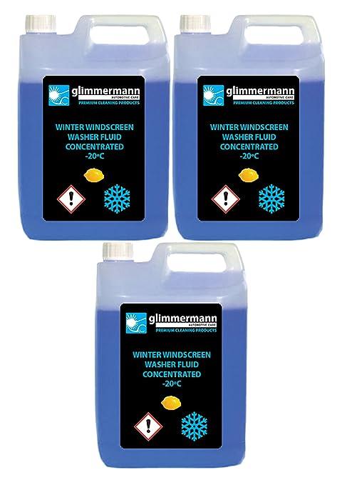 Glimmermann Products Líquido limpiaparabrisas concentrado, efectivo hasta -20 ºC.