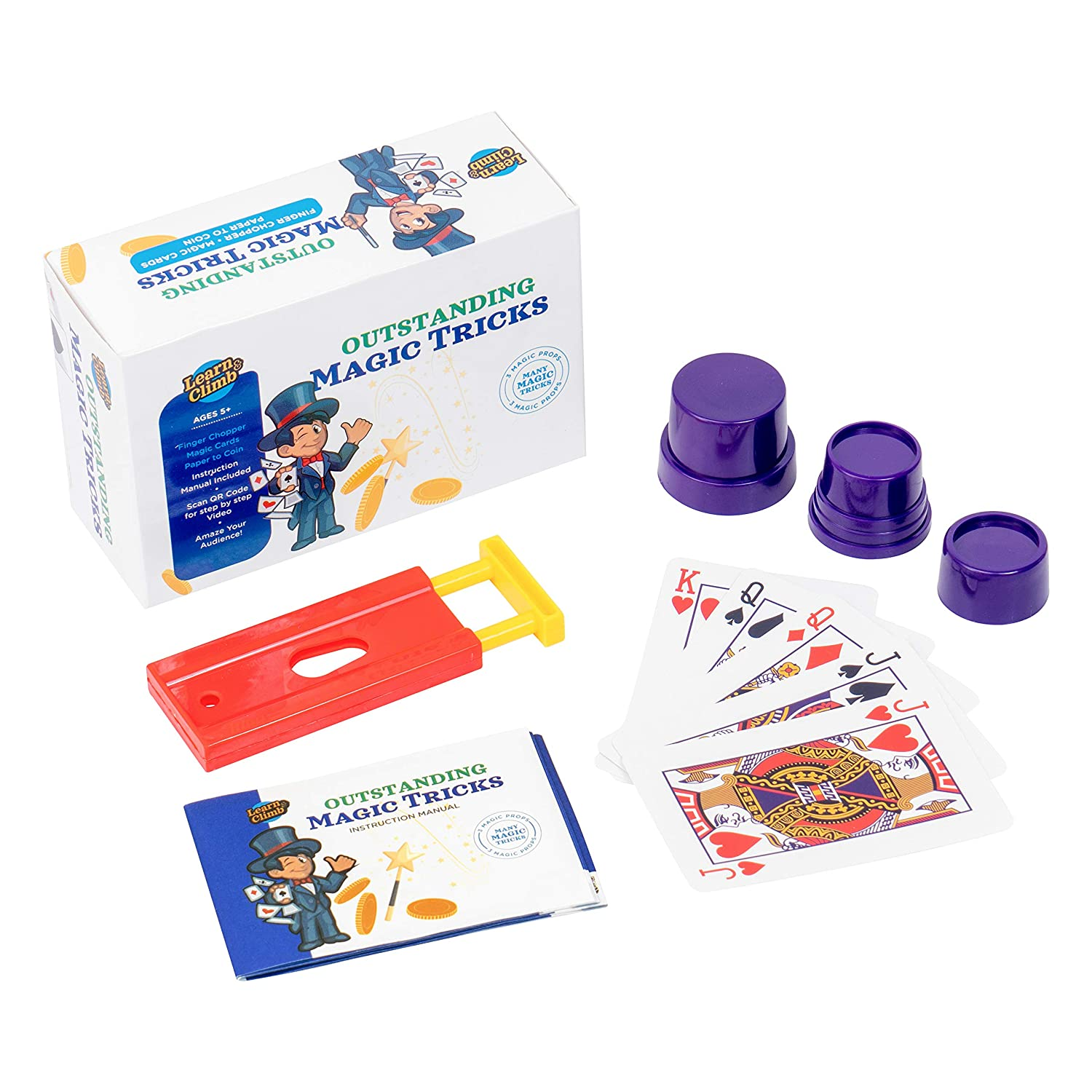 Set of Magical Cards and Easy to Follow Instructions Finger Chopper Learn /& Climb Outstanding Magic Tricks for Kids Ages 7,8,9,10 Set of 3 Unique Props kit Includes Paper to Coin Trick