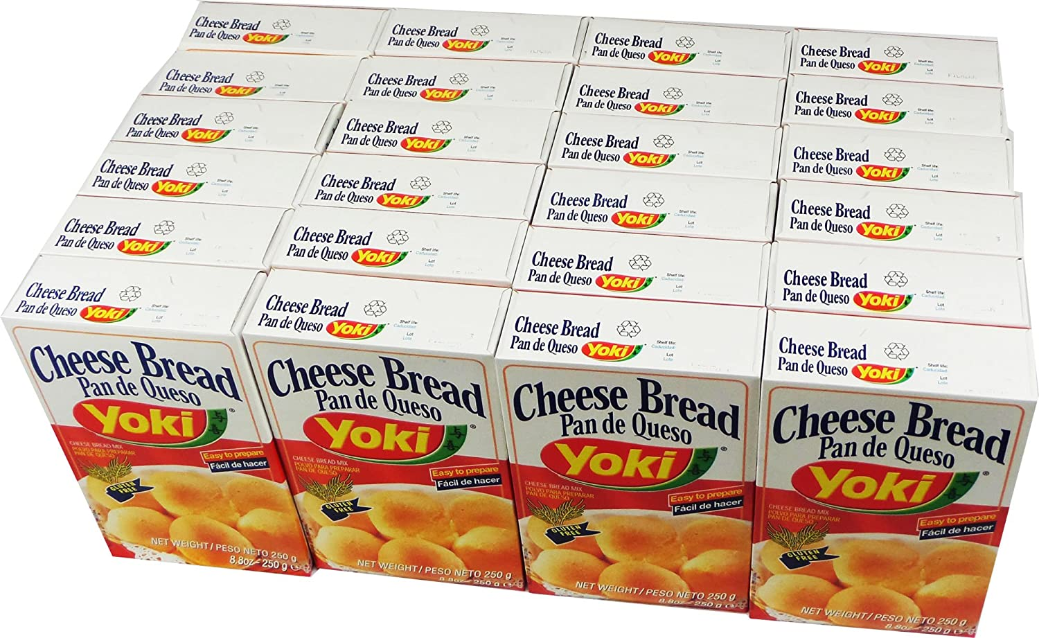 Amazon.com : Cheese Bread Mix - Mistura para Pão de Queijo - Yoki - 8.80 oz (250g) - GLUTEN-FREE - (PACK OF 24) : Grocery & Gourmet Food