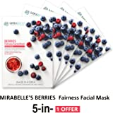 MIRABELLE BERRIES FAIRNESS FACIAL MASK (A PACK OF 5)