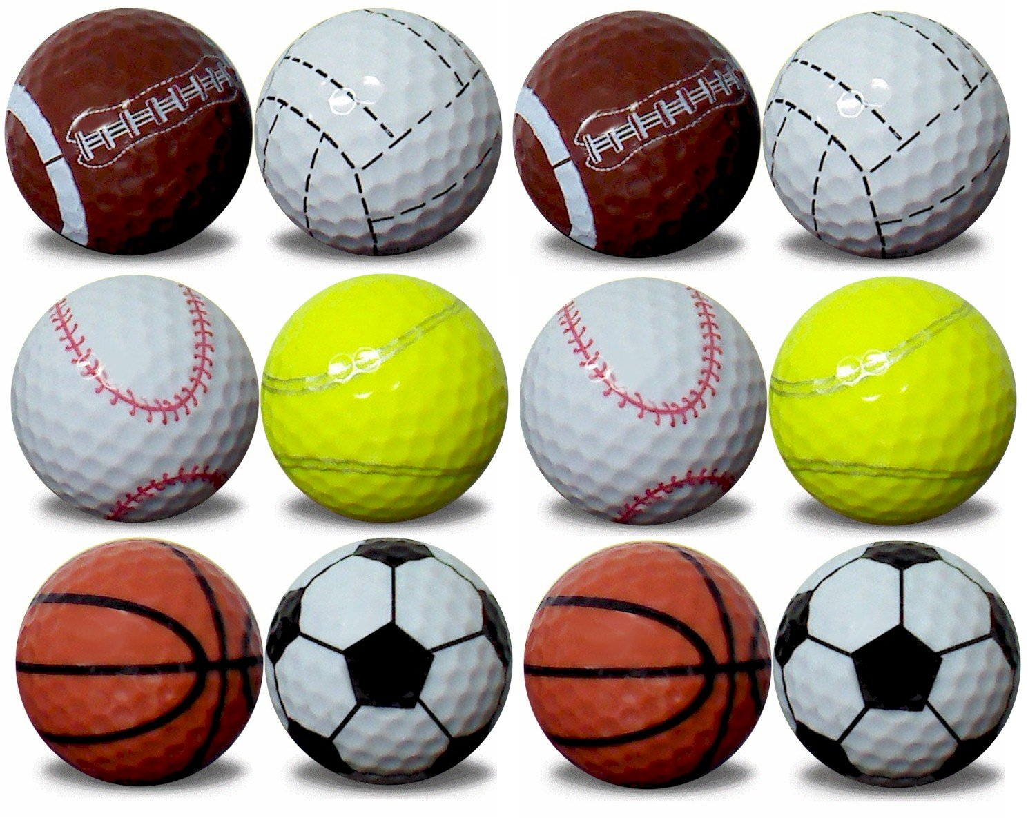 1 dozen GBM Golf assorted sports balls by GBM Golf