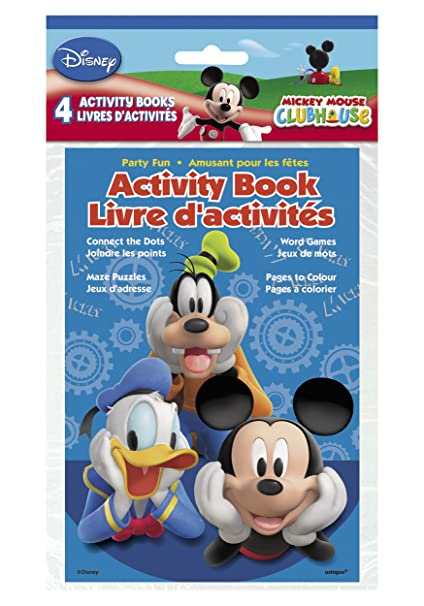 Amazon Com Disney Mickey Mouse 4 Pack Activity Book Toys