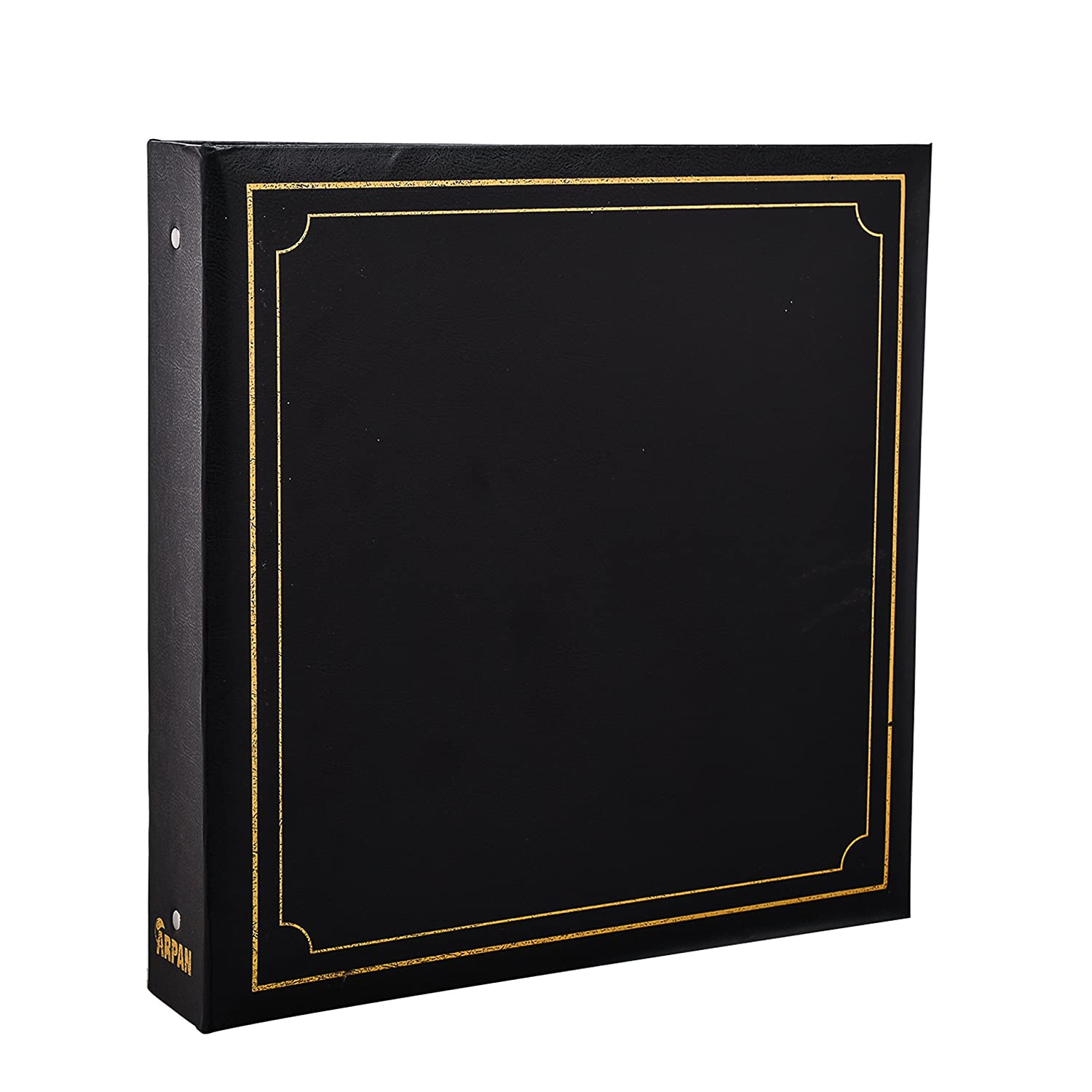 ARPAN Large 6x4 Photo Album for 500 Photo's - Black Padded Leather Look AL-9174