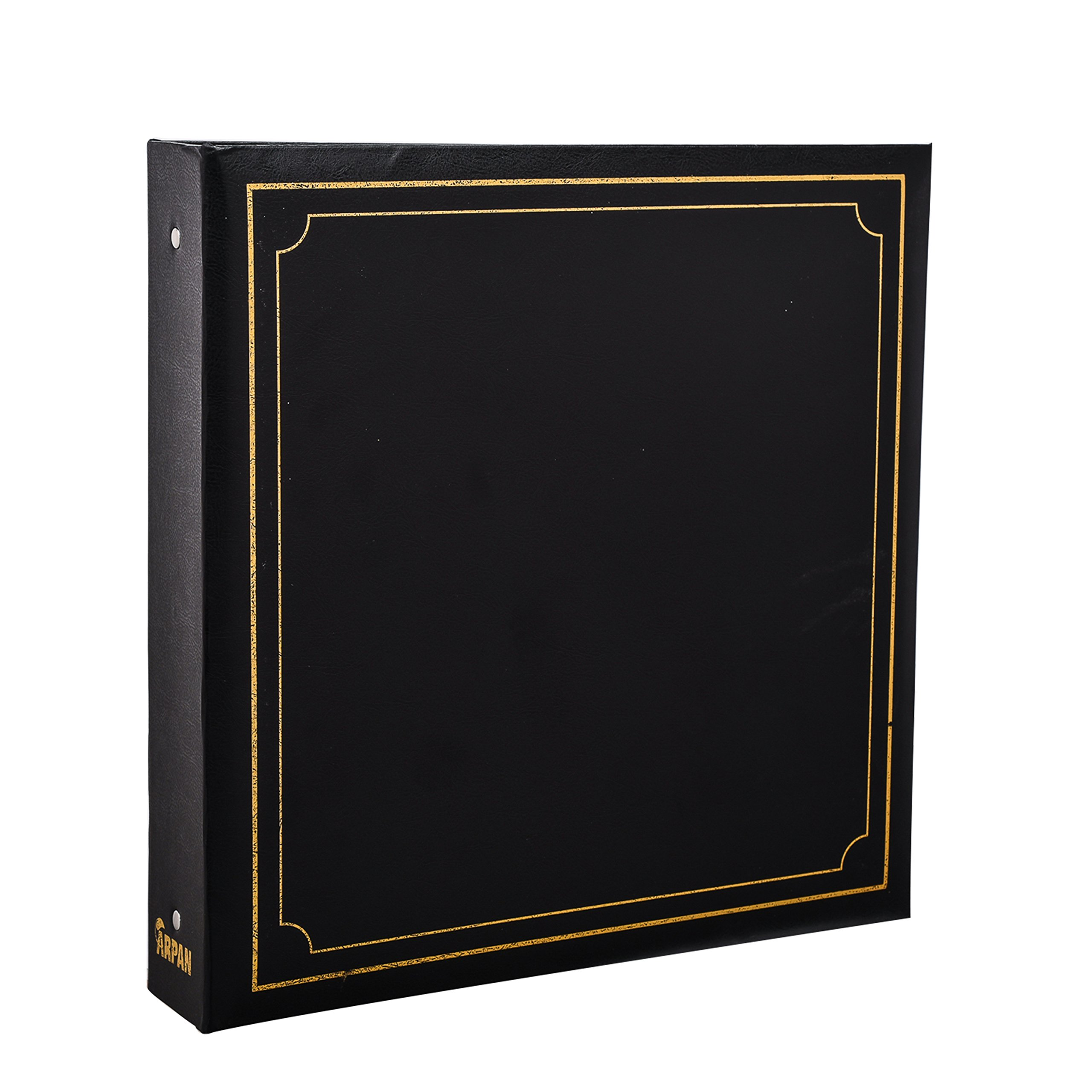 ARPAN Large 6x4 Photo Album for 500 Photo's - Black Padded Leather Look