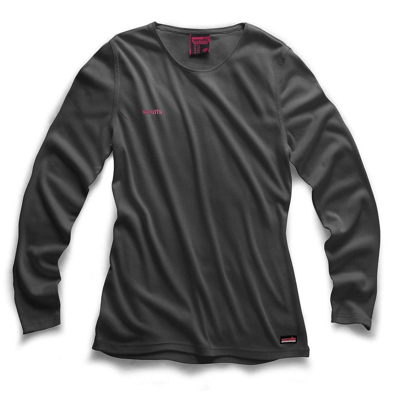 Scruffs Damen Arbeit Long Sleeve Jersey, grau, T52386