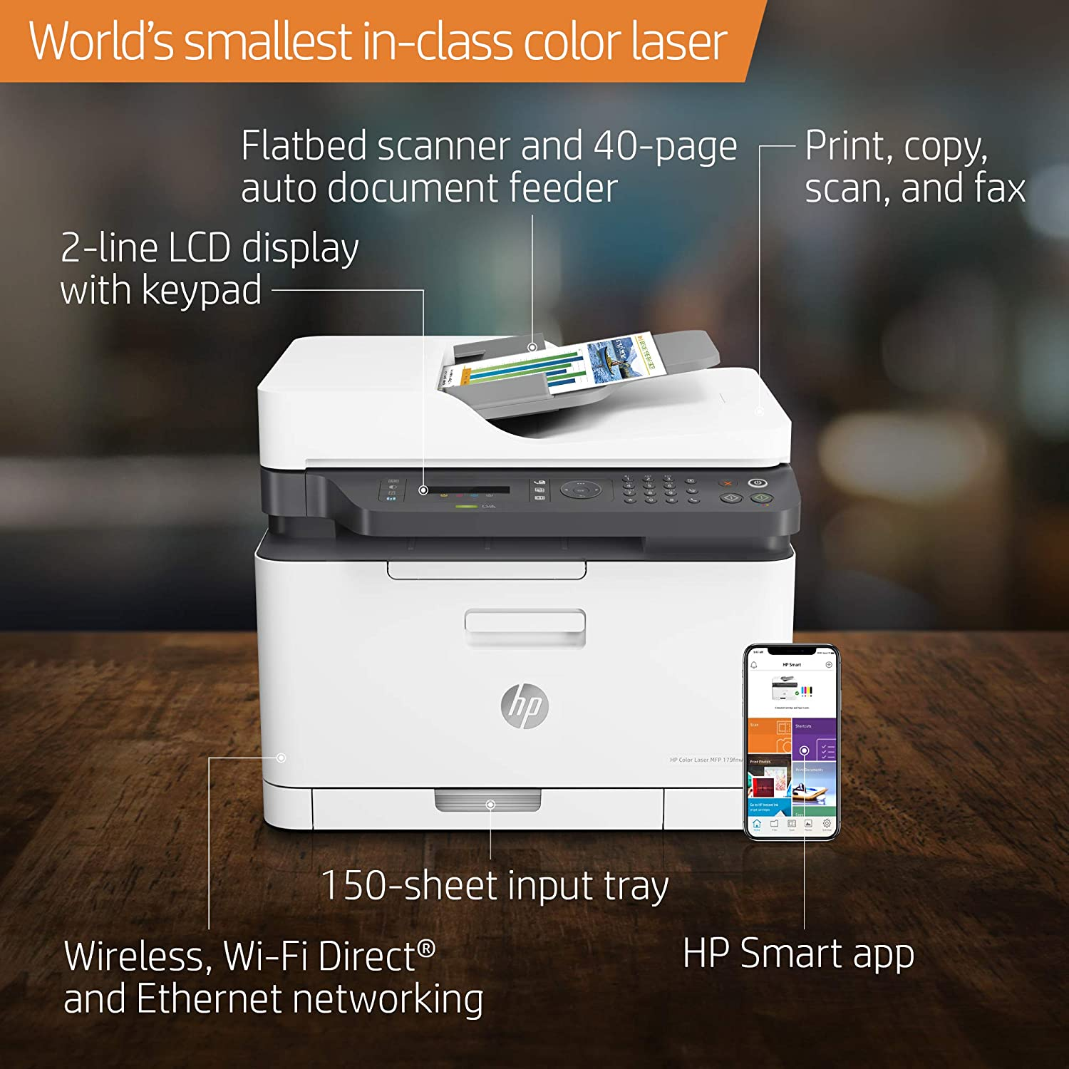 Amazon.com: HP Color Laser 179Fnw Impresora láser ...