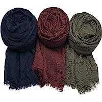 Axe Sickle Scarf Wrap Shawl Cotton Hemp Soft 3PCS Outdoor Beach Towel Head Wrap for Women All Seasons Wrap, Women Wrap…