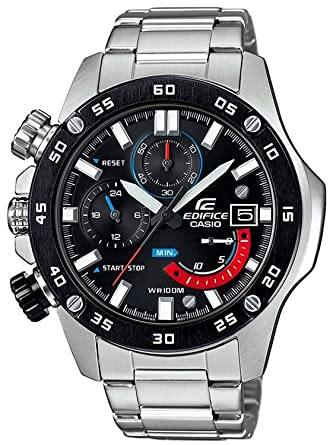 70efc4e02a [カシオ]CASIO エディフィス EDIFICE 左リューズ 100m防水 ブラック クロノグラフ EFR-558DB