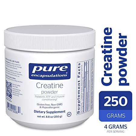 Pure Encapsulations – Creatine Powder – Hypoallergenic Strength and Conditioning Support Formula for Athletes* – 250 Grams
