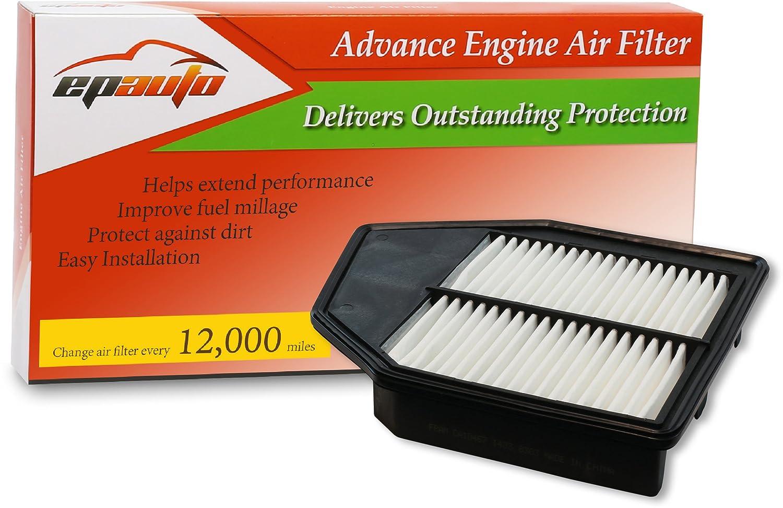EPAuto GP467 (CA10467) Honda L4 Engine Replacement Extra Guard Rigid Panel Engine Air Filter for L4 Accord (2008-2012), Crosstour (2013-2015) AUTO-CA-002
