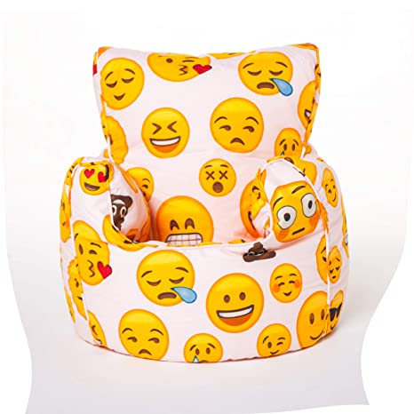 Swell Shopisfy Childrens Filled Printed Bean Bag Chair Emoji Girl Design Bralicious Painted Fabric Chair Ideas Braliciousco