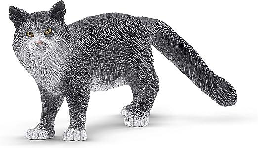 Schleich- Figura Gato Maine Coon, 4,10 cm