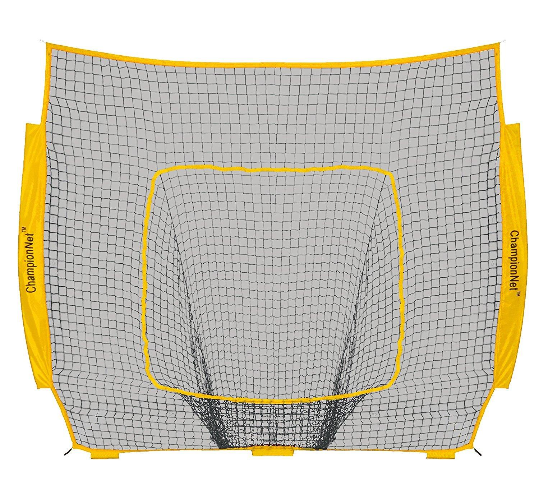ChampionNet Baseball/Softball 7' x 7' Hitting Net Replacement NO Frame - Yellow by ChampionNet