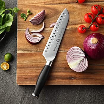 TooSharp Santoku 7 Inch German High Carbon Stainless Steel Kitchen Knife