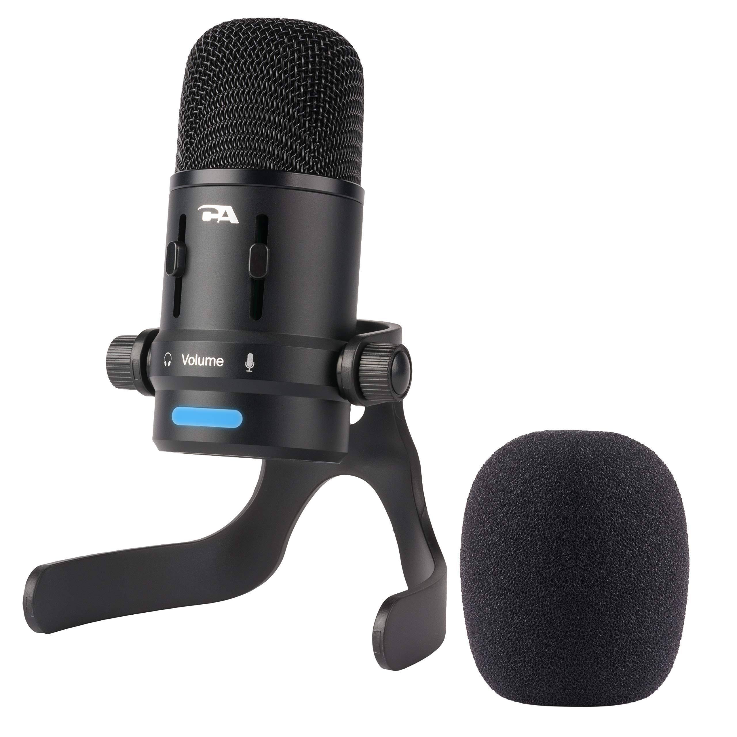 Micrófono de condensador USB de Cyber Acoustics para podcasts, juegos, voz, música, estudio y grabaciones  (CVL-2006)