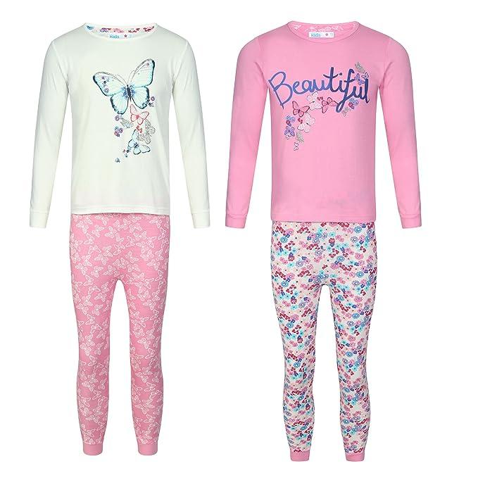 Storelines - Pijama - para niña Rosa rosa