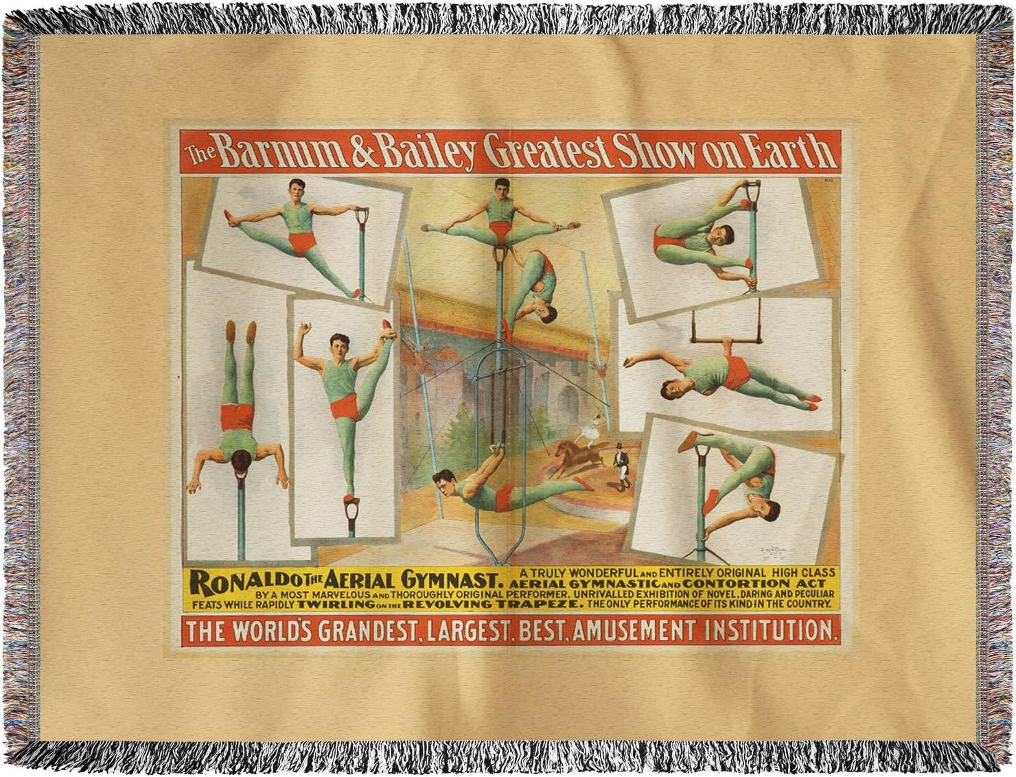 Barnum y Bailey – Ronaldo la antena gimnasta Vintage Póster ...