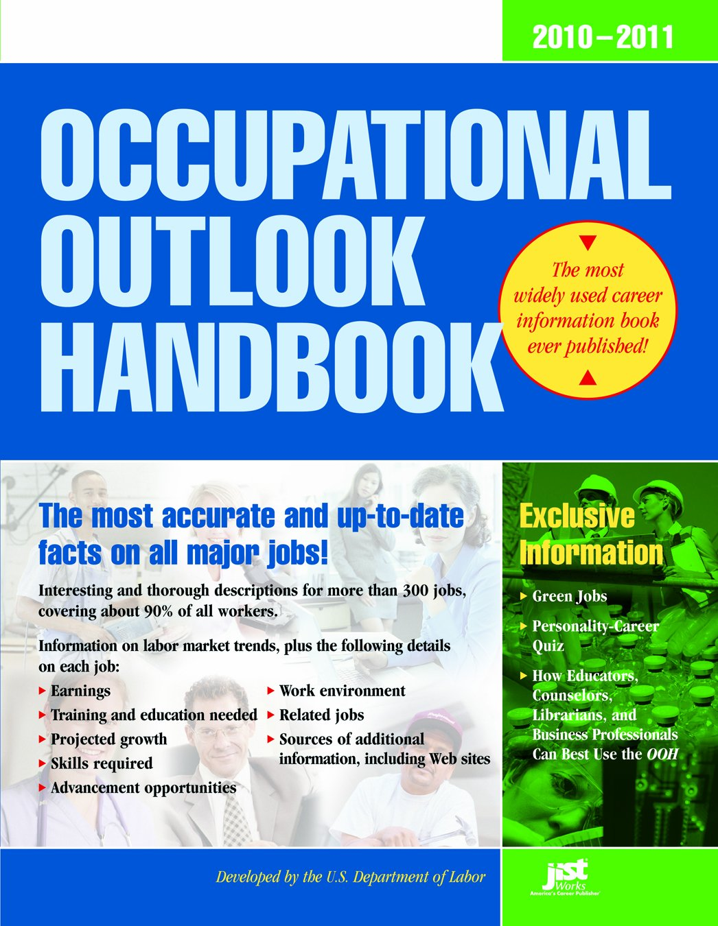 Download Occupational Outlook Handbook, 2010-2011: With Bonus Content (Occupational Outlook Handbook (Jist Works)) pdf epub