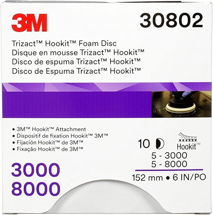 """93763 3M Trizact Hookit Foam Disc 3/"""" 8000 Grit"""