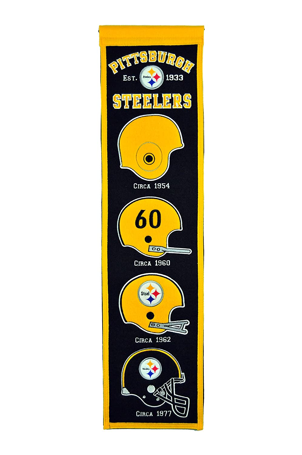 Amazon.com : NFL Pittsburgh Steelers Heritage Banner : Sports Fan ...
