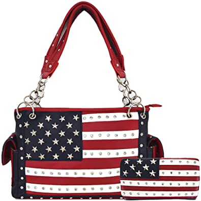 American Flag Stars And Stripes Concealed Carry Purse Women Country