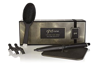 ghd Long Lasting Curling Gift Set - Set de regalo con rizador ,cepillo , clips