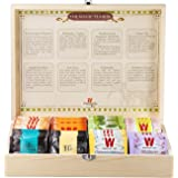 Wissotzky Tea Magic Tea Chest, Assorted Tea Gift Box Collection w/ 80 Assorted Teas