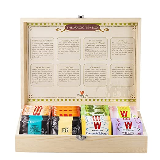 Wissotzky Tea Magic Tea Chest - 80 Assorted Teas
