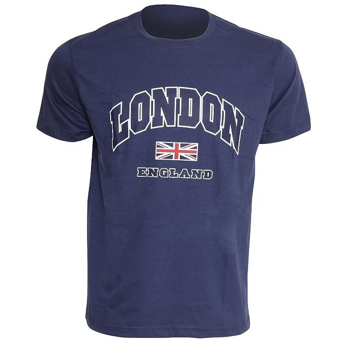 Londres Inglaterra - Camiseta de Maga Corta para Hombre - 100% Algodón: Amazon.es: Ropa y accesorios