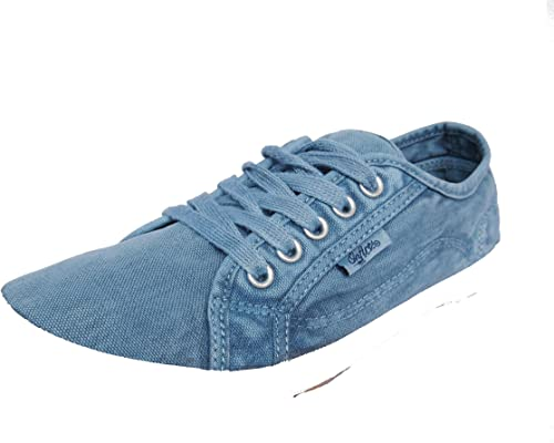 Womens Girls Onfire Washed Canvas Pumps