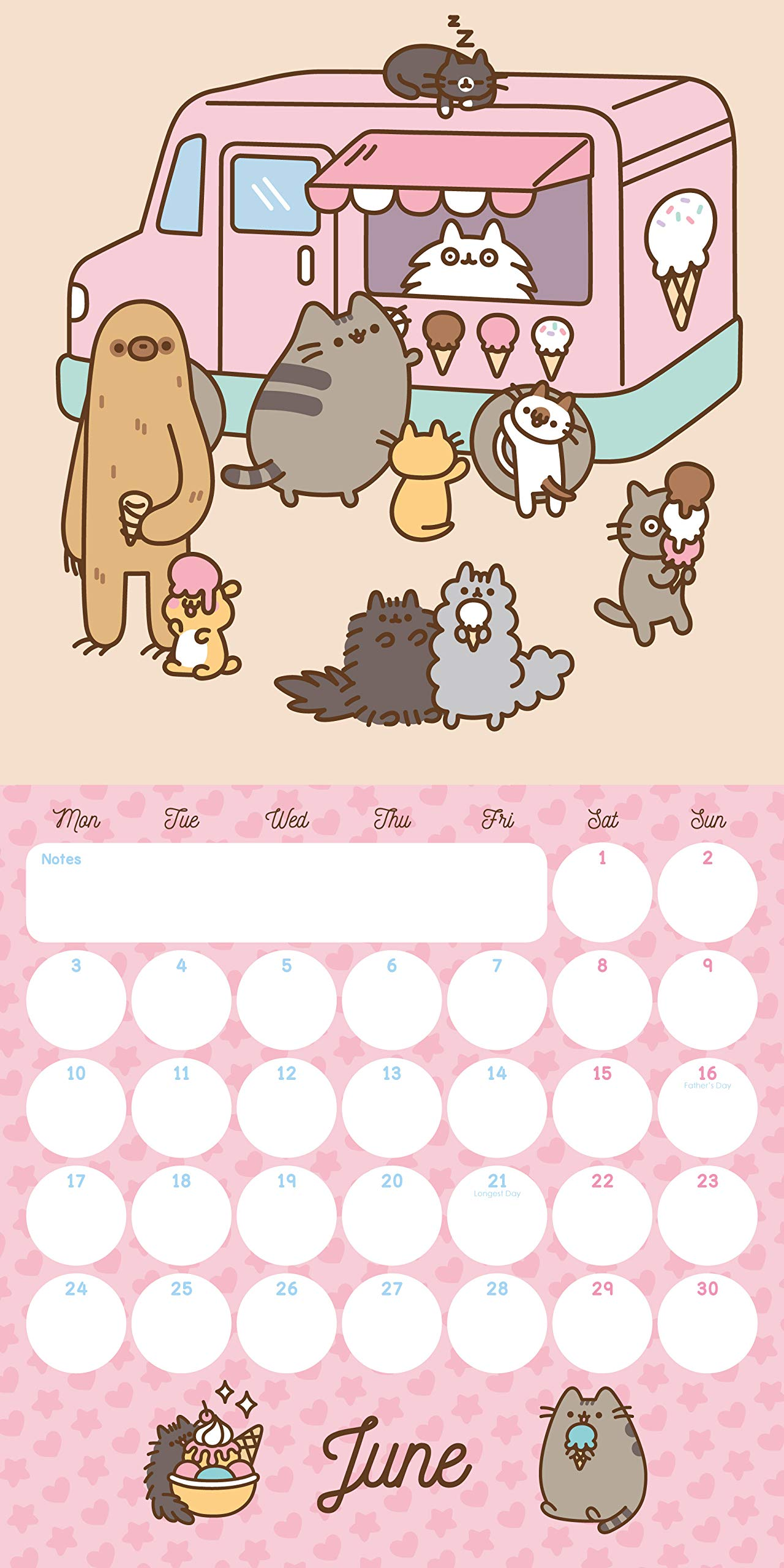 Pusheen Mini Official 2019 Calendar - Mini Wall Calendar For ...