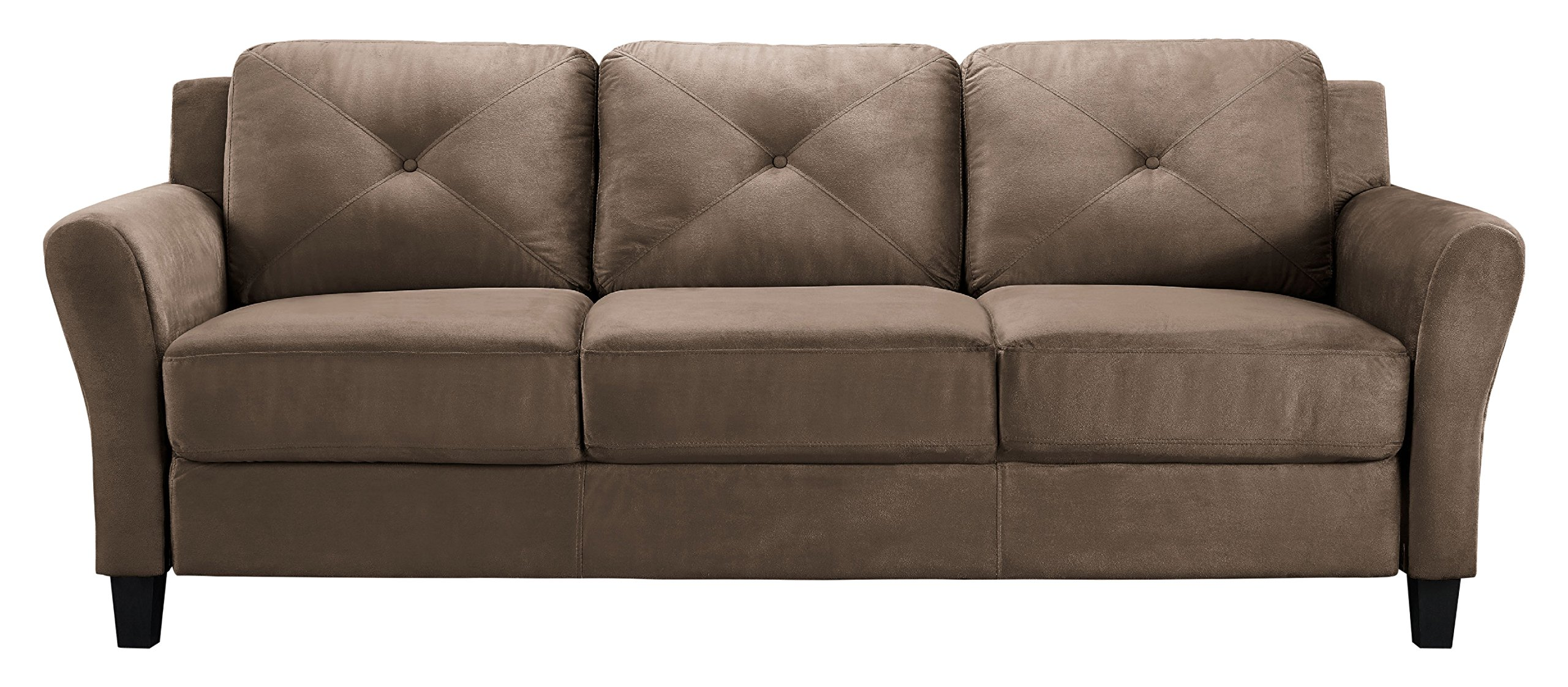LifeStyle Solutions Harrington Sofa in Brown by LifeStyle Solutions