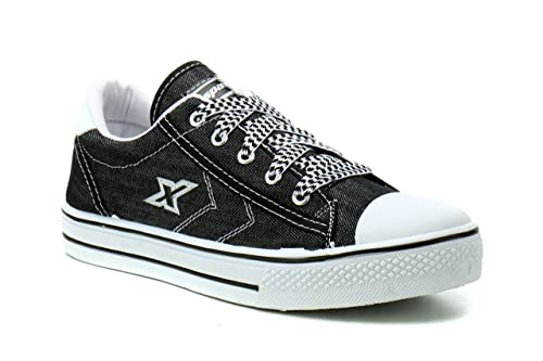 Black and White Canvas Sneakers
