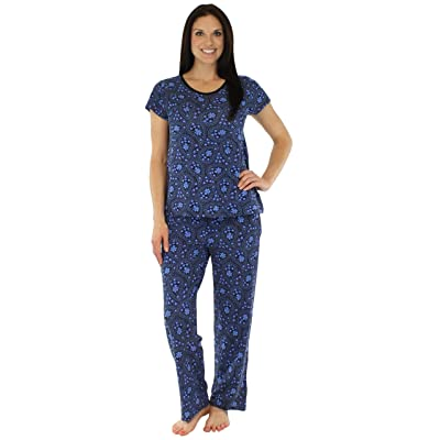 bSoft Women's Sleepwear Modal Short Sleeve and Pant Pajama PJ Sets