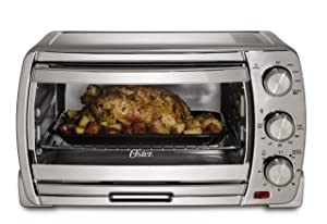 Oster Large Convection Toaster Oven, Brushed Chrome (TSSTTVSK01)