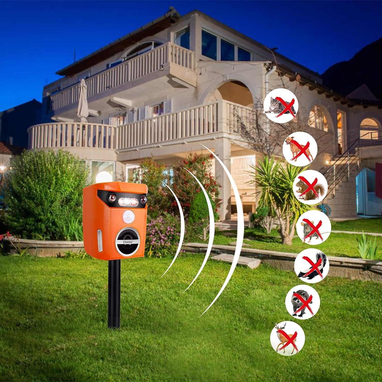 Thanos Solar Power Cat Repeller Ultrasonic Animal Repellent (Orange)