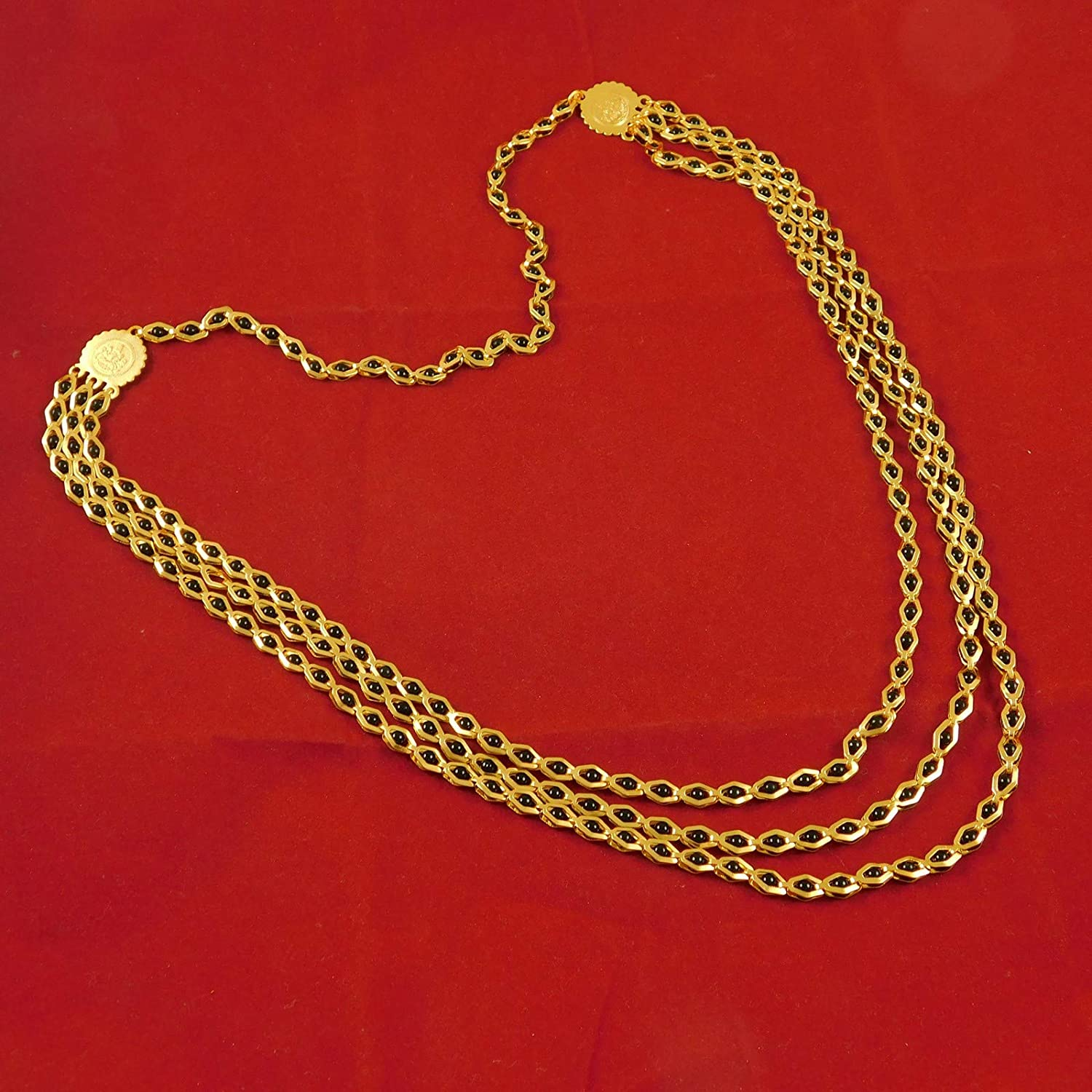 India Art 18K Goldplated Bollywood Traditional Necklace Wedding Malla Fashion Jewelry