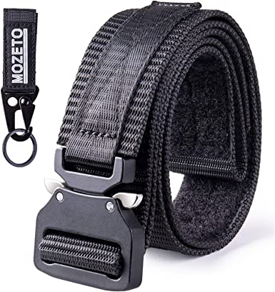 "Non-slip Tactical Belt Nylon Webbing 1.5/"" EDC Duty Mens Metal Buckle Holsters"